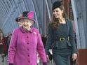 Duchess of Cambridge joins the Queen and Prince Philip on tour in Leicester.