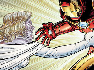Avengers vs X-Men #2 Emma Frost Iron Man