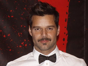 Ricky Martin Press conference after the first preview performance of the Broadway musical 'Evita' at the Marquis Theatre. New York City, USA