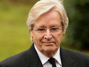 Coronation Street actor Bill Roache arrives for a memorial service for his wife Sara