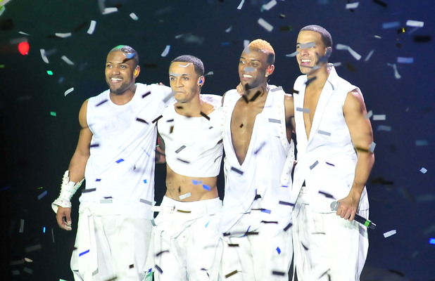 JLS perform on the opening night of their 4th Dimension tour at the Liverpool Echo Arena.