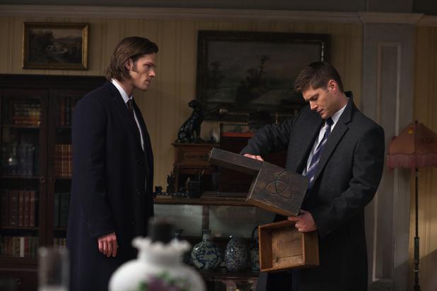 Jared Padalecki as Sam, Jensen Ackles as Dean