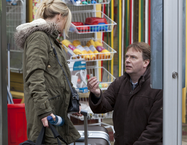 Ian Beale (Adam Woodyatt) begs Mandy Salter (Nicola Stapleton) for another chance.