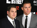 The 21 Jump Street stars stripped off to go swimming in Miami.