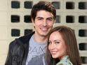 "Brandon Routh and Courtney Ford are ""in awe"" of their new baby boy."
