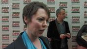 Empire Best Actress Award winner Olivia Colman pays tribute to debut-director Paddy Considine, and reacts the online support she has received for her performance.