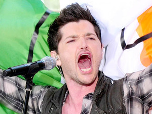 Danny O&#39;Donoghue performing with the script