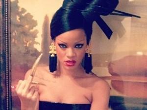 Rihanna filming Coldplay's Princess of China video