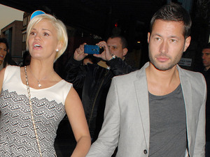 Kerry Katona and Steve Alce at the launch of Amy Childs' SS12 Clothing Collection launch at the Gilgamesh Bar
