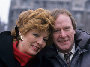 Rula Lenska as Isabel and Dennis Waterman as Thomas in &#39;Stay Lucky&#39;
