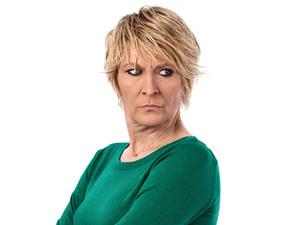 Linda Henry as Shirley Carter in EastEnders