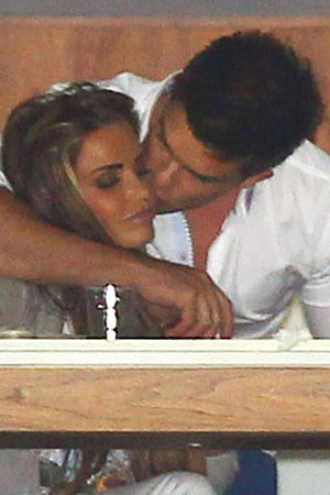 Katie Price and Leandro Penna in a private box during the HPA Gaucho International Polo at O2 Arena. London