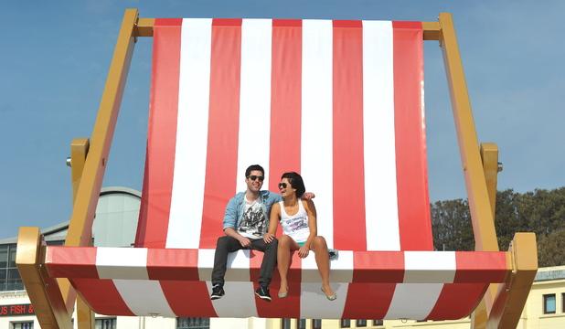 World's 'largest deckchair' installed on Bournemouth Beach