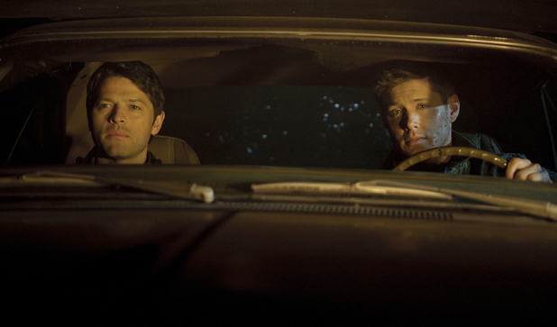 Misha Collins as Castiel, Jensen Ackles as Dean