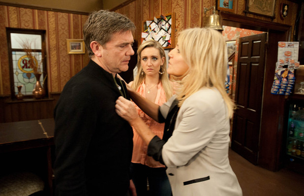 Karl arrives back at the pub and a furious Stella lets rip. Karl admits he is in serious financial trouble