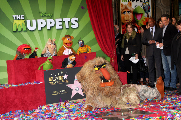 Animal, Miss Piggy, Fozzy Bear, Gonzo, Kermit the Frog and Sweetums The Muppets are honored with a Star on the Hollywood Walk of Fame Los Angeles, California