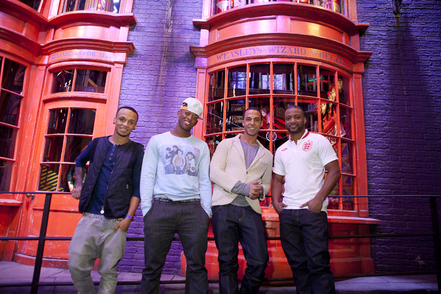 JLS take the Warner Brothers studio tour