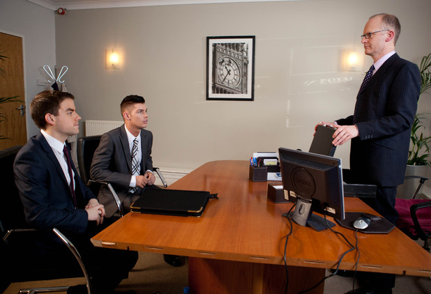 Ste and Doug attend their meeting with the bank manager.