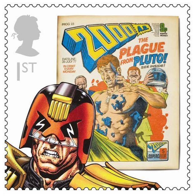 Royal Mail British comics stamps