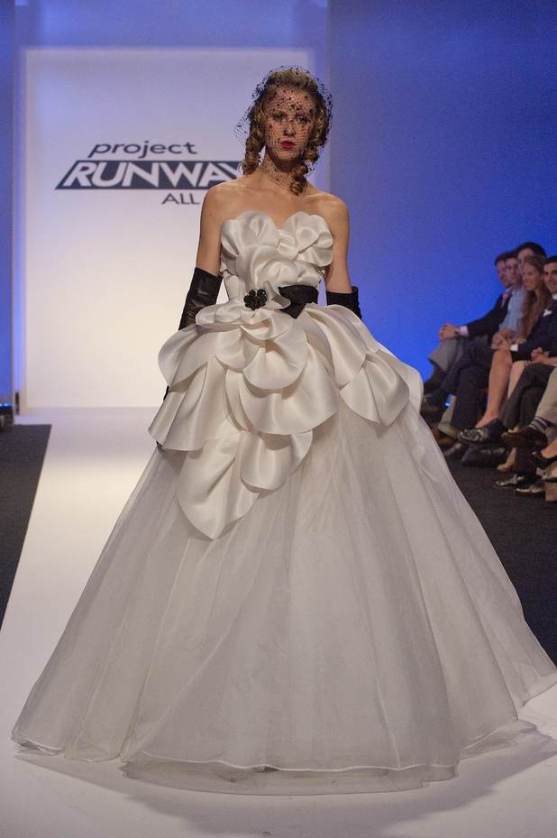Austin39s sixth design project runway all stars finale for Austin wedding dresses