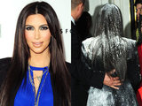 Kim Kardashian flour bombed at True Reflection launch party