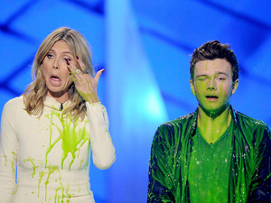 Heidi Klum and Chris Colfer, nickelodean kids choice awards 2012