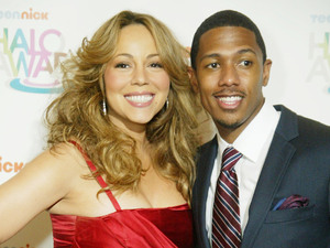 Mariah Carey and Nick Cannon arrive at the TeenNicks HALO Awards screening Washington DC