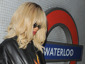 Rihanna catches a tube from Waterloo station, to watch her friend Drake perform at the O2 Arena