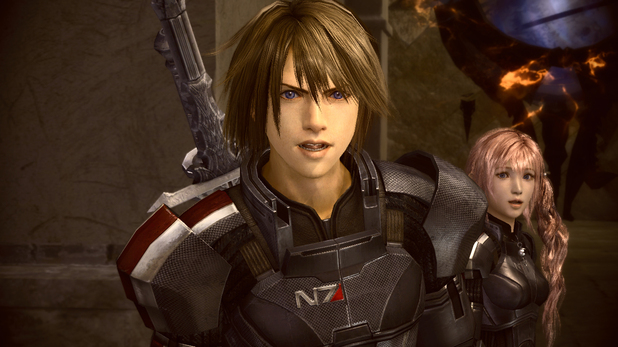 Final Fantasy XIII-2 Mass Effect costumes - In pictures