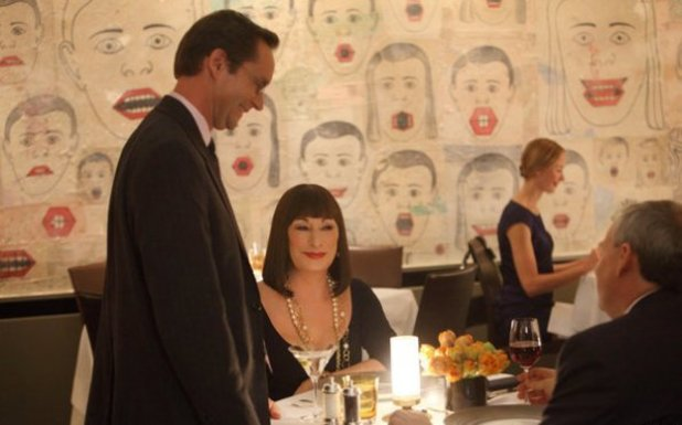 Michael Riedel as himself, Anjelica Huston as Eileen Rand