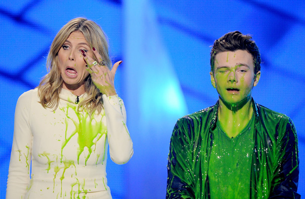 Nickelodean Kids Choice Awards 2012 - Heidi Klum and Chris Colfer