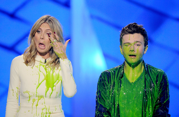 Heidi Klum and Chris Colfer