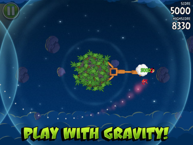 Listening to Sounds in Space http://www.digitalspy.co.uk/gaming/news/a464260/angry-birds-space-update-adds-theme-song-from-slash-listen.html