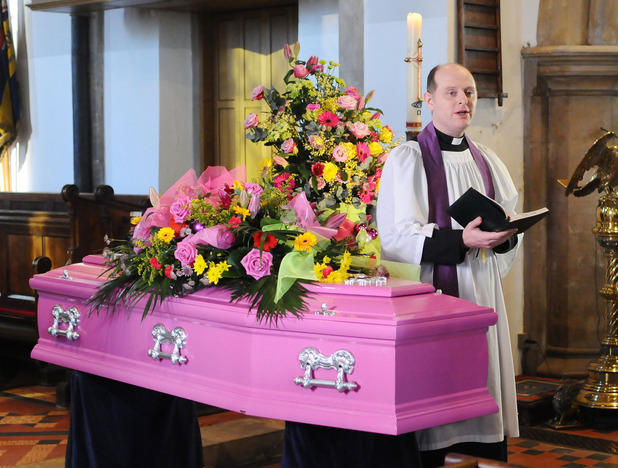 Heather's favourite colour pink dictates her funeral service.