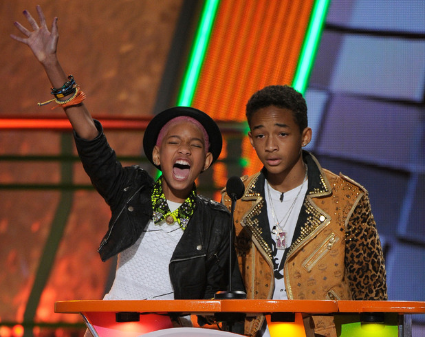 Nickelodean Kids Choice Awards 2012 - Willow Smith and Jaden Smith