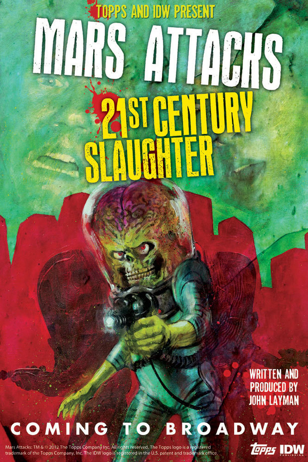 Mars Attacks: '21st Century Slaughter' musical poster