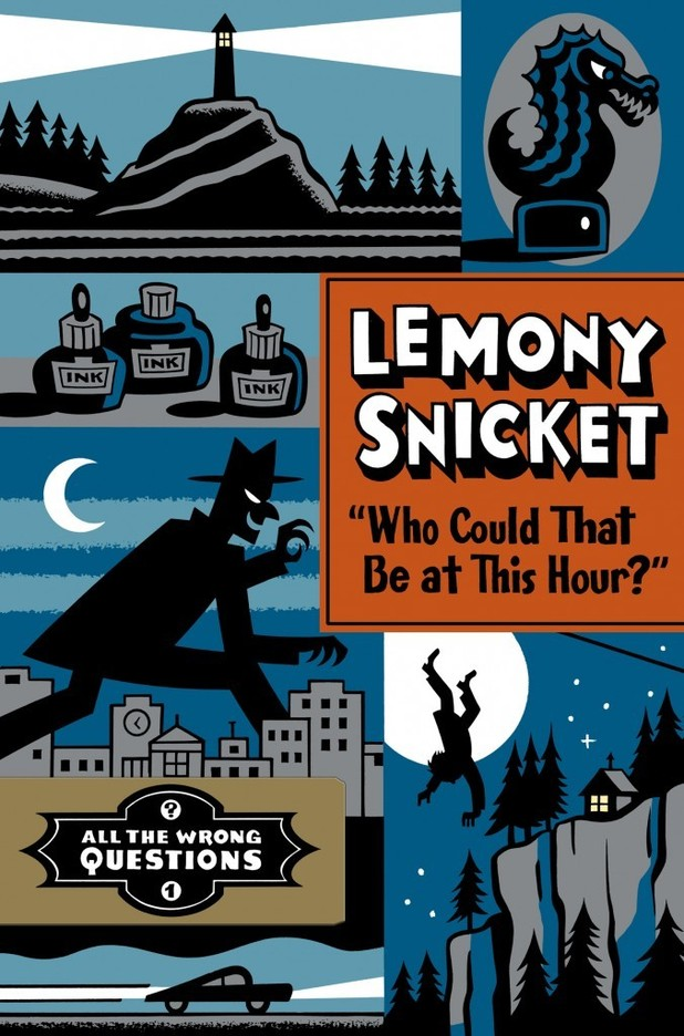 Seth: Lemony Snicket 'Who Could That Be At This Hour?' cover illustration