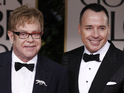 David Furnish and husband Elton John previously had a public feud with Madonna.
