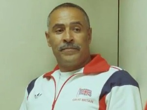 Daley Thompson in the Adidas 'Take the Stage' advert