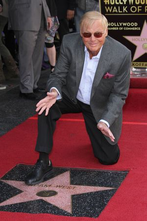 Adam West unveils his star on the Hollywood Walk of Fame