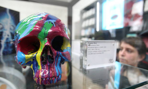 Damien Hirst replica plastic skulls for sale at £36,800