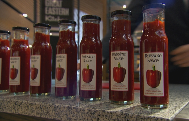 Misspelt sauce on The Apprentice S08E03