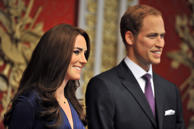 WAXWORKS  Madame Tussauds London reveals the new wax figures of Prince William and Kate Middleton aka Catherine, Duchess of Cambridge