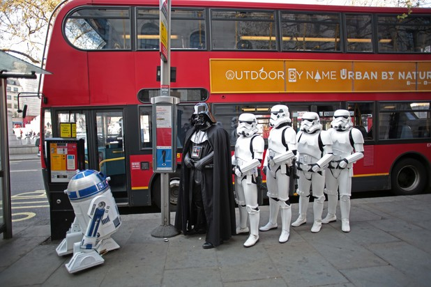 Stormtroopers at the bus stop