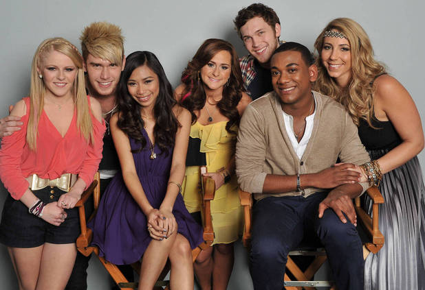 American Idol Final 7: Hollie Cavanagh, Colton Dixon, Jessica Sanchez, Skylar Laine, Phillip Phillips, Joshua Ledet and Elise Testone