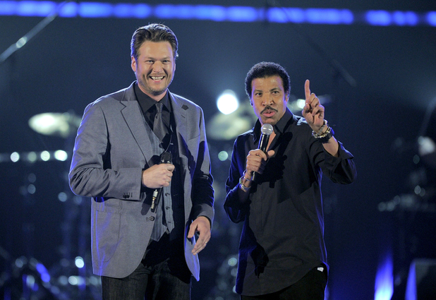 ACM Awards 2012: Blake Shelton, left, and Lionel Richie