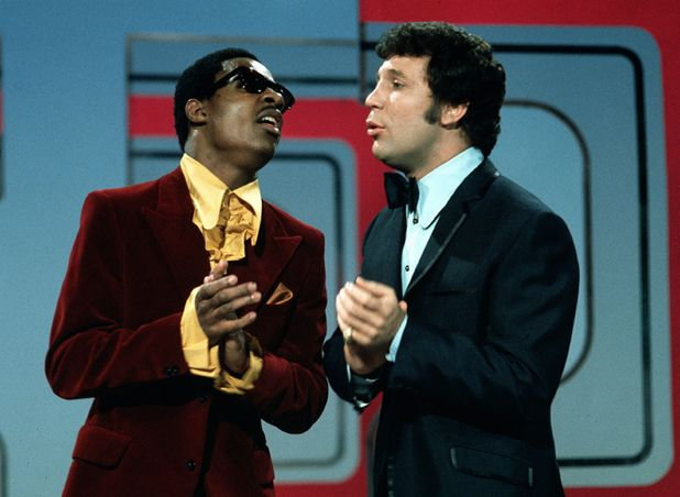 Stevie Wonder and Tom Jones