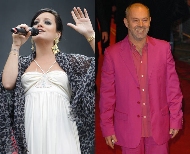 Lily Allen and Keith Allen