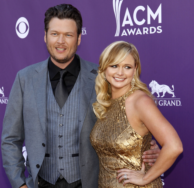 ACM Awards 2012: Blake Shelton, left, and Miranda Lambert