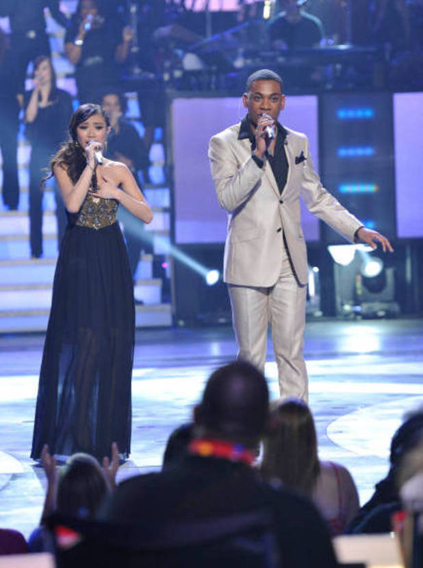 Jessica Sanchez and Joshua Ledet
